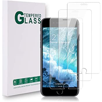 [3 pack] Screen Protector for iPhone SE 2020, iPhone 8/7/ 6s/ 6 9H Hardness Tempered Glass [Easy Installation] 2.5D rounded edges exclusively, High Definition, Tempered glass film 4.7 ''