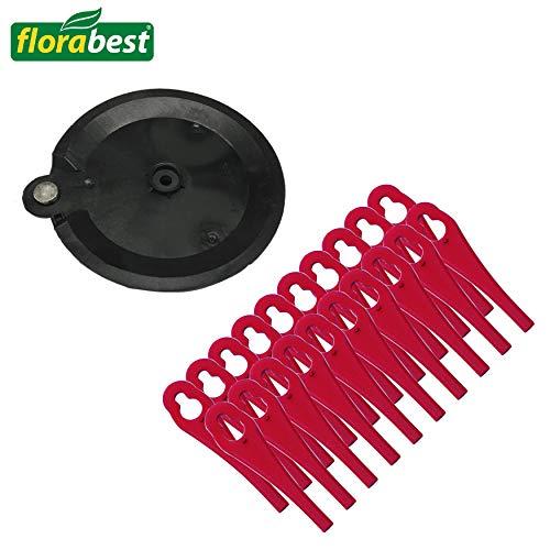 Florabest Kunststoffmesser (20 Stück) mit Schneidscheibe für Florabest Akku Rasentrimmer FAT 18 B3 - LIDL IAN 273039