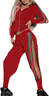 Womens Hoodie Pullover Long Sleeve Sweatpants Sport Jogger Sweatsuit