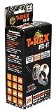 T-Rex Fix-It Set de reparación de fibra de vidrio - Cinta adhesiva impermeable y resistente al calor para la reparación y la fijación estable para uso en interiores y exteriores, 50mm x 1,25m