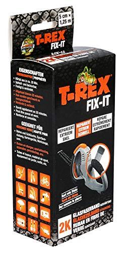 T-Rex Fix-It Glasfaser Reparatur-Set – Wasserdichtes, hitzebeständiges Klebeband zum Reparieren & stabilen Fixieren für innen & außen – 50mm x 1,25m