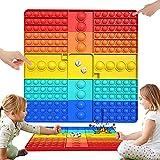 Pop Gigante It , Pop Fidget Toy It Burbujas Multicolor Push Bubble Educativo para Aliviar el Estrés Dice Game , Pop XXL It Juguetes Antiestres Sensoriales para Autismo Ansiedad Niños Y Adultos