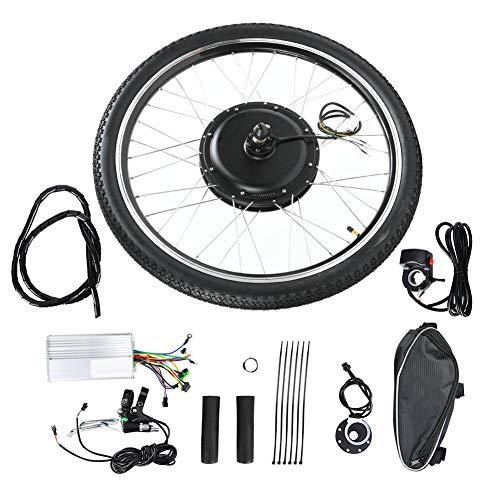 Caredy ebike umbausatz, 36 V, 500 W, 26 '' Elektrofahrradmotor-Satz Vorderrad- / Hinterradantrieb E-Bike-Radnabenumbausätze für Elektrofahrräder(Vorderseite)