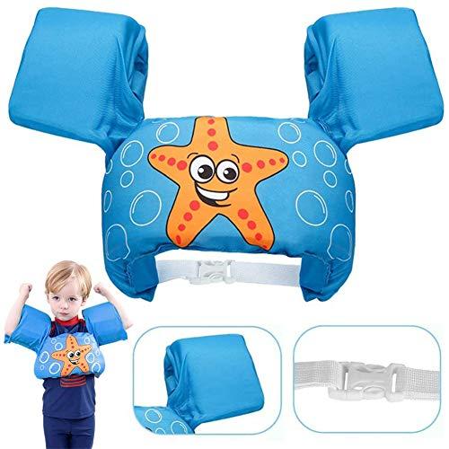 OMG Inc Schwimmweste, Schwimmweste für Kleinkinder, Armbänder Kinder-Schwimm-Cartoon-Weste, Schwimmtrainingsjacke für 2-6 Jahre alte Jungen Mädchen
