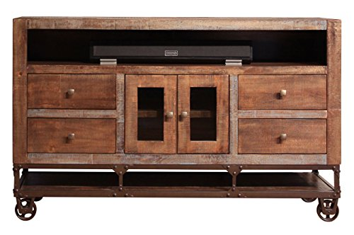 Rustic 62' Gabriel TV Stand Western Style Real Wood