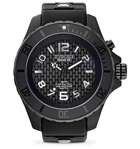 Kyboe. Negro Sombra 48mm Reloj