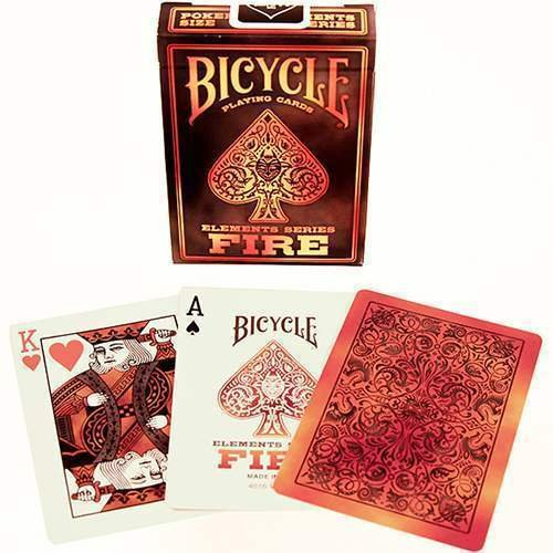 SOLOMAGIA Bicycle - Fire - Kartenspiel - Zaubertricks und Magie