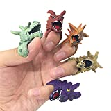 Fingerpuppen in 2 verschiedenen Designs - 10 und 5 Stück - Puppen Tiere Drachen Plüsch für Jungen und Mädchen (Style 2)