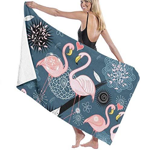 Olie Cam Asciugamani da bagno Decorazioni per il bagno Fenicotteri BLU Asciugamani per il lavaggio ad asciugatura rapida Vacanze estive per le Donne Asciugamani da spiaggia lunghi Super assorbenti