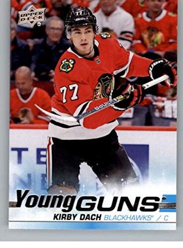2019-20 Upper Deck Hockey #451 Kirby Dach RC Rookie Card Chicago Blackhawks Young Guns Official Series Two Trading Card From UD