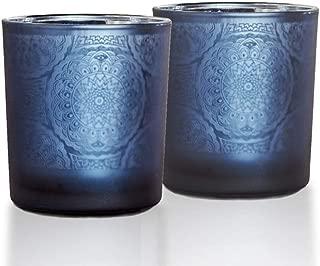 lEPECQ Blue Bathroom Decor Candle Holders Set, Blue Votive Candle Holder, 3.15