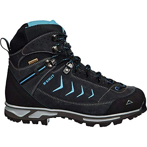 McKINLEY Bottes de Trekking Annapurna AQX, Climbing Shoe Femme, Antracite/Turquoise, 42 EU