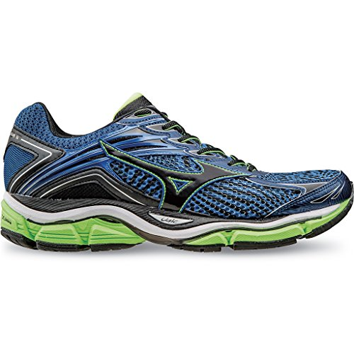 Mizuno Wave Enigma 6 - Zapatillas de running unisex, Color Skydiver/Black/GreenGecko , 15 EU