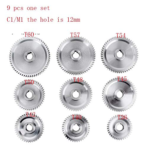 Best Prices! Fevas 9pcs one Set Simant SIEG: S/N: 10084A lathes and milling Machines C1 M1 Metal Gear Mini Lathe Gears Metal