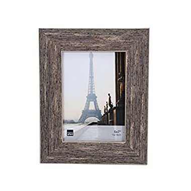 Kiera Grace Emery Picture Frame, 5 by 7 Inch, Weathered Grey Reclaimed Wood Finish