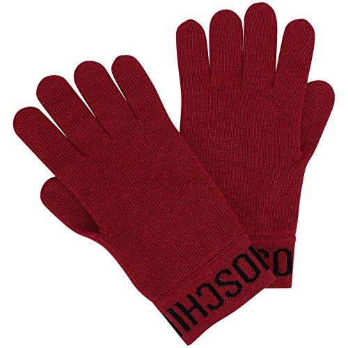 Moschino Strick-Handschuhe mit Logo, Onesize, Red