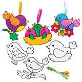 Baker Ross Atrapasueños Pájaro (pack de 10) Kits de decoración de ventanas para niños para pintar, set de manualidades para niños