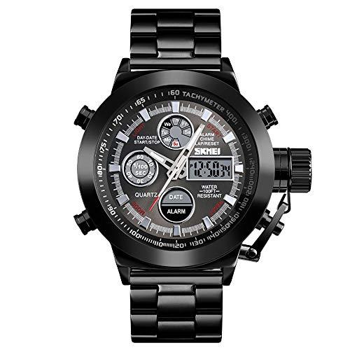 CZDZSWCLC Reloj de Cuarzo de los Hombres, Moda Minimalista Reloj de Pu
