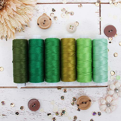 Threadart 20 Color Pearl Cotton Thread Set | 75yd Spools Size 8 | Perle Cotton for Friendship Bracelets, Crochet, Hardanger, Cross Stitch, Needlepoint, Embroidery | Includes Black and White - Set A