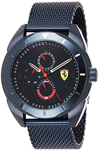 Scuderia Ferrari Herren Multi Zifferblatt Quarz Uhr mit Edelstahl Armband 830638