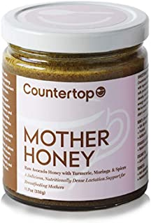 COUNTERTOP FOODS Mother Honey (2-Pack) Breastfeeding & Lactation Support for New Mothers - Raw Avocado Honey Creamed with Turmeric, Moringa, and Coconut Oil to Improve Supply and Quality, 12oz