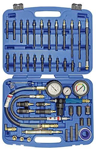 SW-Stahl 26119L Kompressionstester / Druckverlusttester / Messuhr Kompression / Verdichtungsmesser / für Benzin und Dieselmotoren / Prüfer / Diagnose / Set 45-teilig