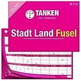 Inspiracles TANKEN Stadt Land Fusel Trinkspiel - Girls Edition, Pink Partyspiel für Erwachsene, Lustiges Geschenk für Mädels & Frauen - Witziges Spiel & Gadget, Spieleabend, Saufspiel