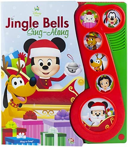 Disney Baby Mickey Mouse Christmas Jingle Bells Sing Along Song Book PI Kids product image