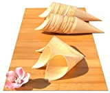 Bamboo Wood Cones MIDI x100 for party foods, snacks, nibbles, canapà 180X75mm - MIDI