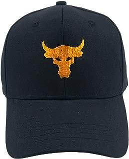 YuCheng Bull Baseball Cap Embroidery Visor Hip Hop Trucker Hat Adjustable Snapback Cap Dad Hat Black