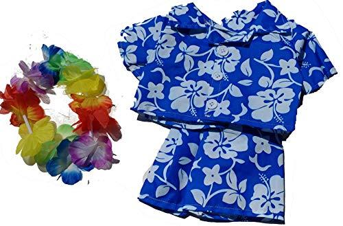 Hawaiian Boy w/Flower Lei Teddy Bear Clothes Outfit Fits Most 14