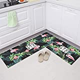 HLXX Juego de Dos Piezas de Estilo Europeo, Alfombrilla de Cocina, Felpudo de Entrada, alfombras de decoración para Sala de Estar, alfombras Antideslizantes para baño, A21 40x60cm