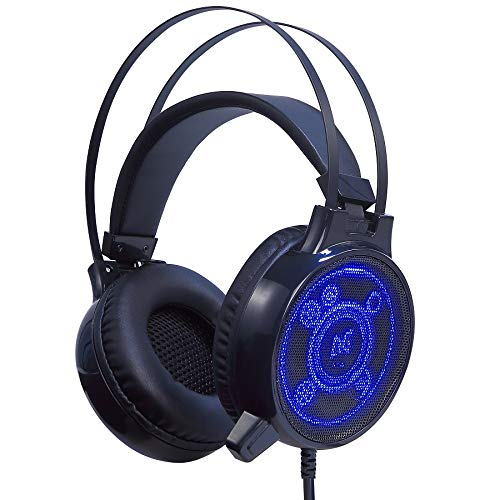 FOR ME Cuffie Gaming Over Ear Cuffie da Gioco Ave Microfono 3.5mm Jack Bass Gamer Headphone Stereo Audio Surround Cuffia Gaming Headset per PC Laptop Tablet