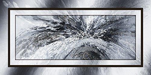Artland Qualitätsbilder I Alu Dibond Bilder Alu Art 100 x 50 cm Abstrakte Motive Muster Formen Digitale Kunst Schwarz Weiß C6PF Schwarz weiß abstrakt 1