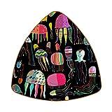 Posavasos para bebidas – Set de posavasos – Regalo de inauguración de la casa – Juego de 6 coloridos patrones de medusas pintadas