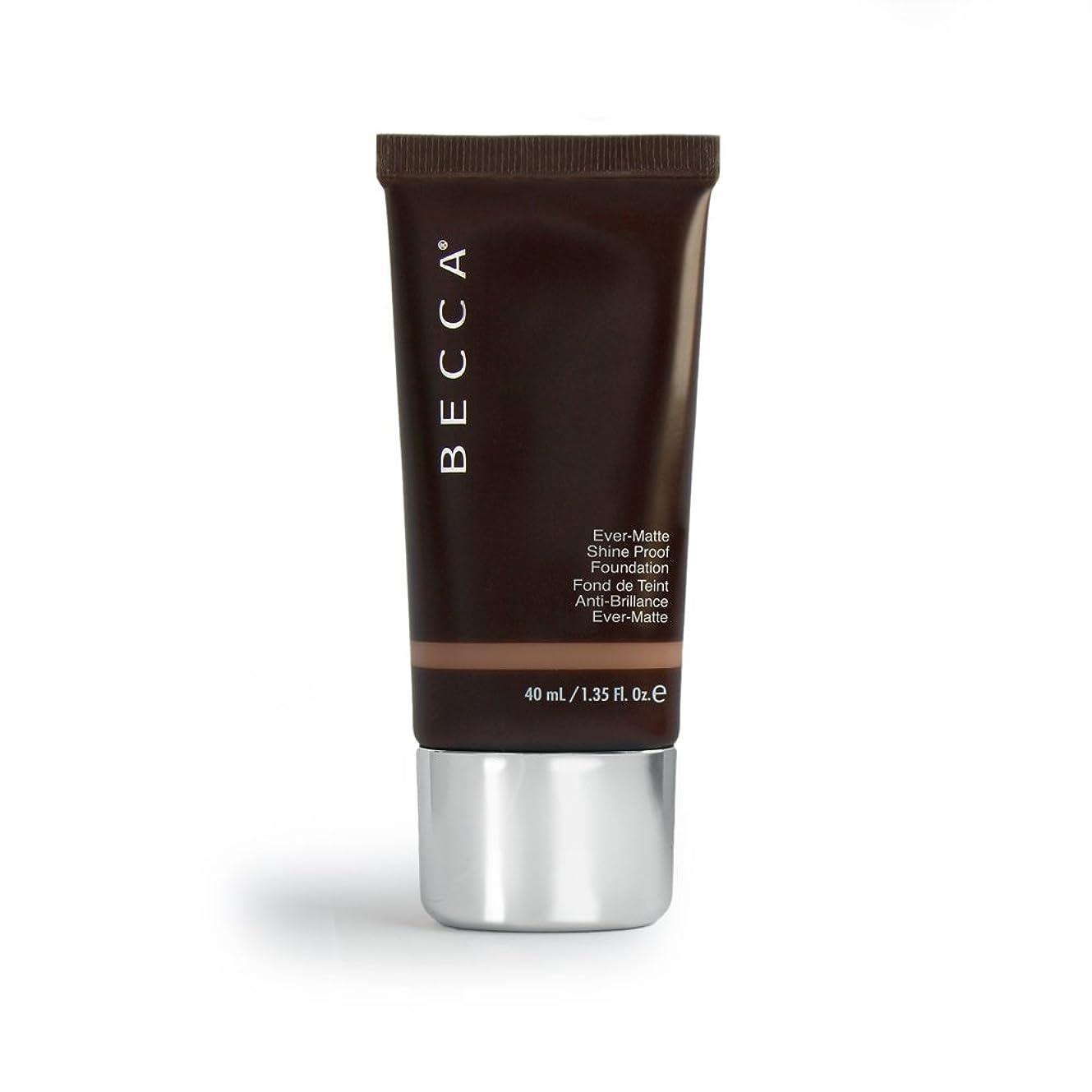 礼儀サンダー請求BECCA Cosmetics - Ever-Matte Shine Proof Foundation - Sandalwood