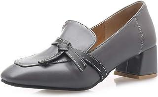 BalaMasa Womens APL11888 Pu Block Heels