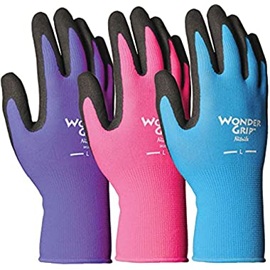 Wonder Grip Nicely Nimble Gloves, Medium, Assorted Colors