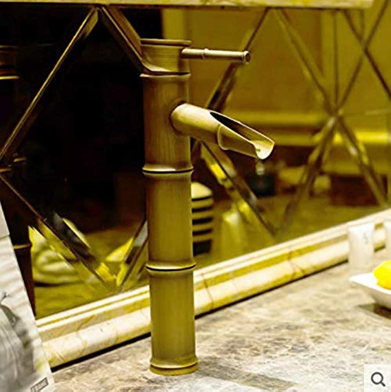 360 ° drehbaren Wasserhahn Retro Wasserhahn Waschbecken Waschbecken Bambus antiken Wasserhahn Badezimmer Bad heien und kalten Wasserhahn