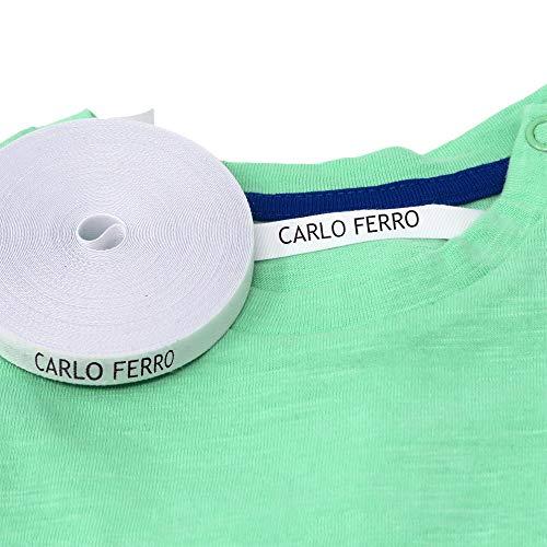 Etichette personalizzate termoadesive con CERTIFICATO ECOLOGICO per marcare nomi da stirare con ferro sui vestiti per bambini, grembiuli, abbigliamento (100)