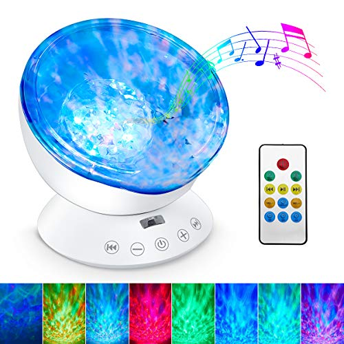 SURTOP Ocean Wave Projector, 12 LED Night Light Lamp with Adjustable...