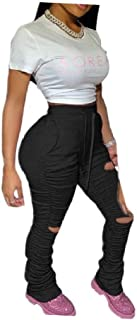Womens Empire Waist Sport Big Pockets Draped Slim Casual Harem Pants
