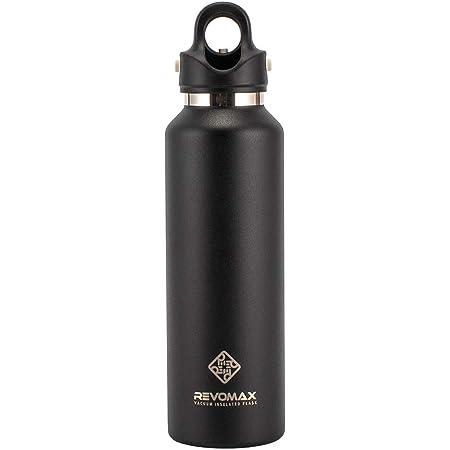[ レボマックス ] REVOMAX 水筒 マグボトル レボマックス2 592mL ワンタッチ 保冷 保温 炭酸OK 真空断熱ボトル REVOMAX2 ステンレス 炭酸水 オニキスブラック ONYX BLACK DWF-20419B [並行輸入品]