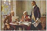 YYLPLLE Escribiendo La Declaración De Independencia, Rompecabezas De 1000 Piezas, Juego De Rompecabezas, Ilustraciones para Adultos, Adolescentes, Niños, 50X75Cm
