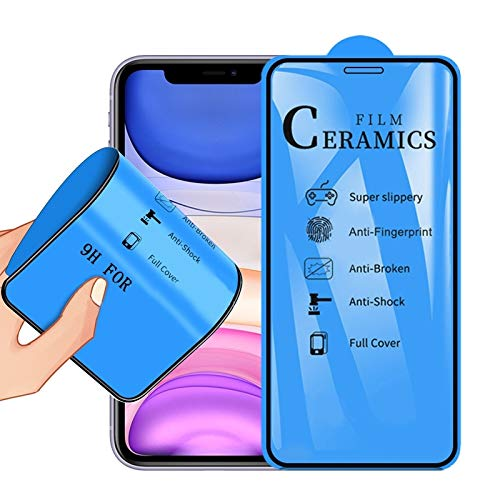Xyamzhnn Protector de la Pantalla del teléfono 2.5D Completa Pegamento la Cubierta Completa de la cerámica de Cine for iPhone 11 / XR, película Protectora del teléfono móvil