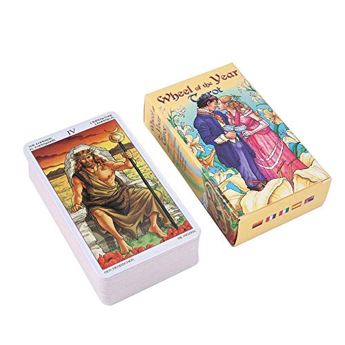 KELUNIS Tarot for Beginners: Wheel of The Year Tarot Card - A 78-Card Deck And Guidebook