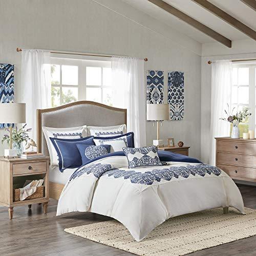 Lowest Price! MADISON PARK SIGNATURE Indigo Sky Comforter Set, King(110x96), Farmhouse Blue