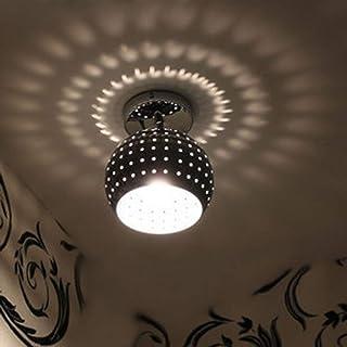 LEDMOMO Mini Led Plafonnier Dôme Lampe Chromé Finition montée Éclairage Chandeliers pour couloir Entrée Salle de bain Sall...