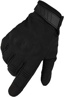 Rouoi Winter Men Women All-Finger Plus Velvet Outdoor Windproof Touch Screen Gloves