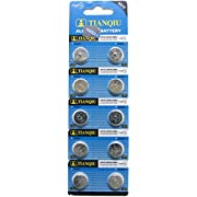 Tianqiu AG12 10Pc Alkaline Button Cell Watch Batteries